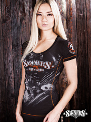 "Women's T-shirt ""BURN on the ROAD"""